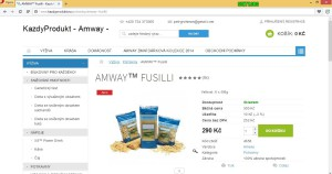 AMWAY Fusilli těstoviny